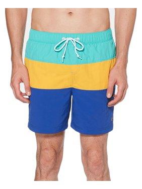 Mens Swimwear Colorblock Drawstring Trunks XL