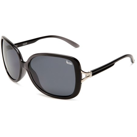 Women's Fashion Polarized Sunglasses, Oversized and Vintage Style by Coleman - Black - ()