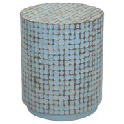 East at Main 's Shelby Blue Round Side Table