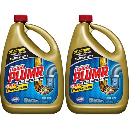 Liquid-Plumr Pro-Strength Full Clog Destroyer Plus Pipeguard, 160 Ounces (Toilet Drain Opener)