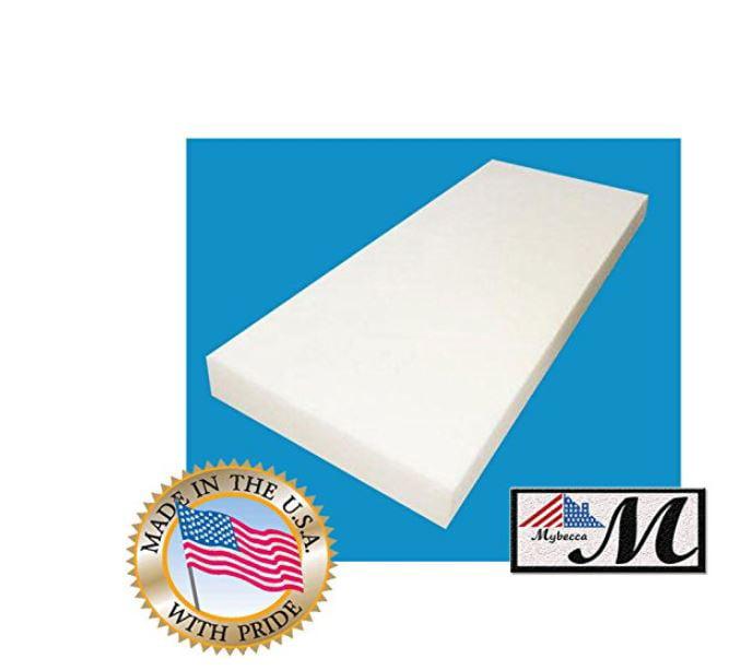 "Professional Upholstery Foam Sheet 4/"" X 24/"" X 72/"" Charcoal"