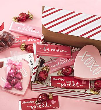 1800 Baskets Hello Valentine Chocolate Sweets Box