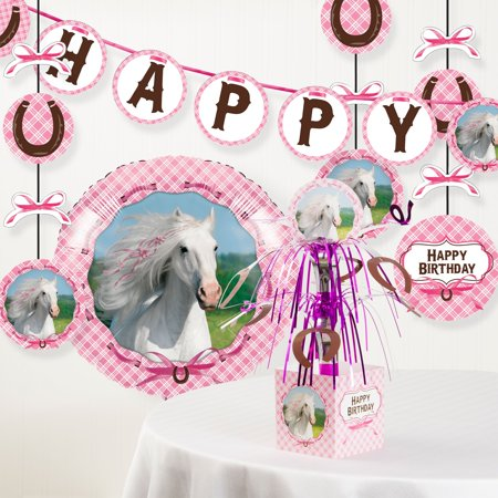 Heart My Horse Birthday Party Decorations Kit, 6pcs - Horse Birthday