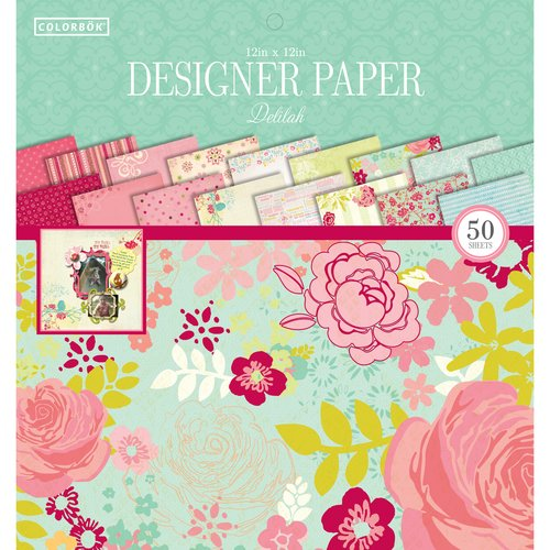 12 x 12 ColorBok 68230B Designer Paper Pad Delilah