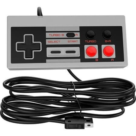 Ortz 10ft NES Classic Controller for Nintendo Mini Edition Console [TURBO