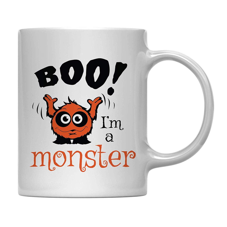 Andaz Press 11oz Coffee Mug Gift Boo I M A Monster Halloween October Present Ideas With Gift Box Walmart Com Walmart Com