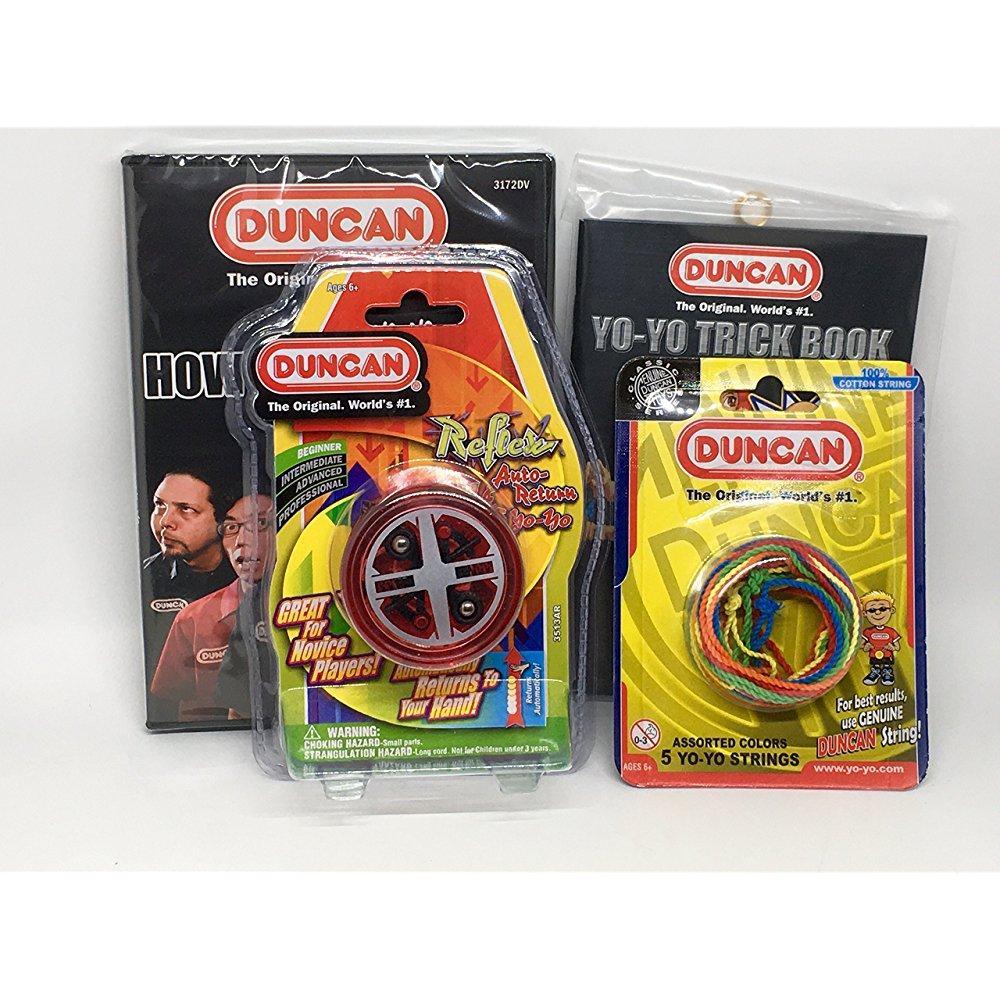 Duncan Beginner YoYo Kit (4 Items) - Red Reflex Yo-Yo, Mu...