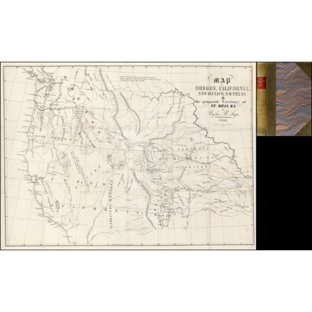 Laminated Poster Map Of Oregon California New Mexico N W Texas