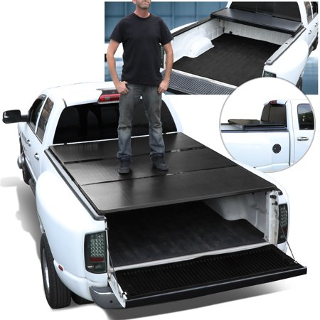 For 2004-2018 Ford F150 5.5Ft Short Bed Aluminum Frame Hard Tri-Fold Tonneau Cover 17 16 15 14 13 12 11 10 09 08 07 06