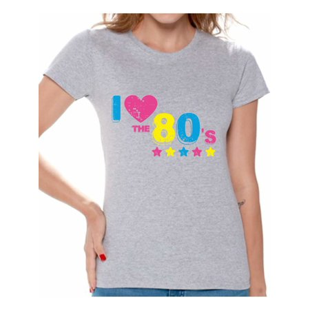 Awkward Styles 80s Shirt 80s Costumes 80s Tops I Love the 80s Shirt Party 80s Party Girl Shirt 80's Clothes for Women 80s Rock T Shirt 80s Theme Shirts Vintage 80s](60s Themed Clothing)