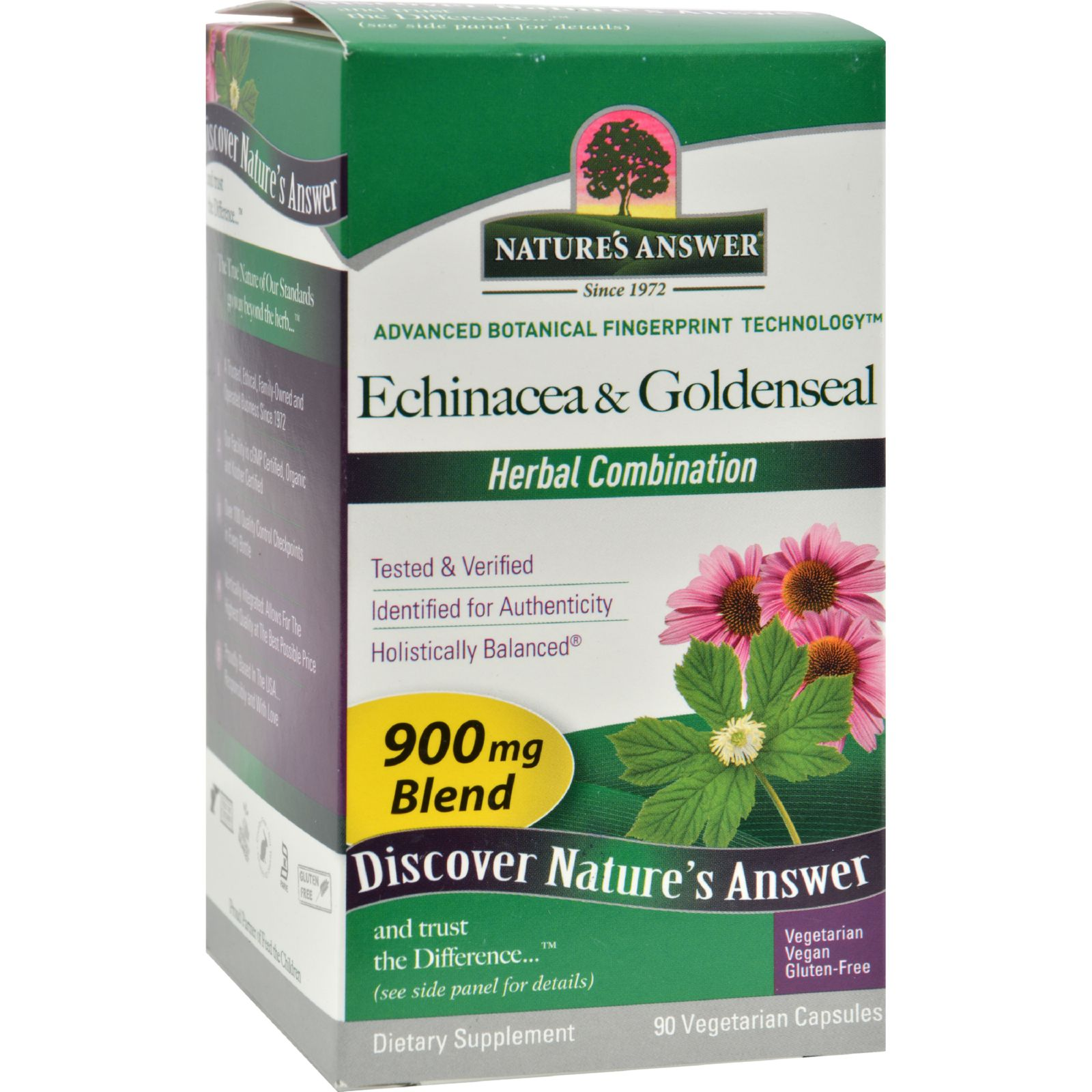 Natures Answer Natures Answer  Echinacea & Goldenseal, 90 ea