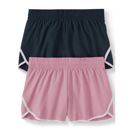 Women's Active Running Short With Hidden Liner 2 Pack Bundle by Athletic Works