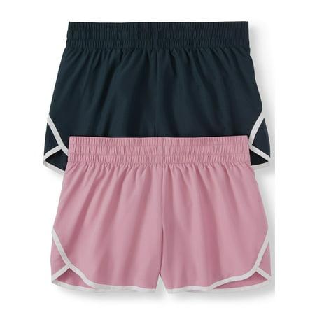 Women's Active Running Short with Hidden Liner 2-Pack