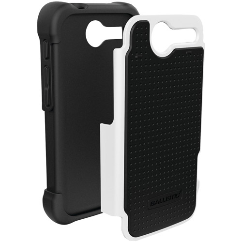 Ballistic SG1063-M385 Silicone SG Case for Motorola Electrify M - 1 Pack - Retail Packaging - Black/White