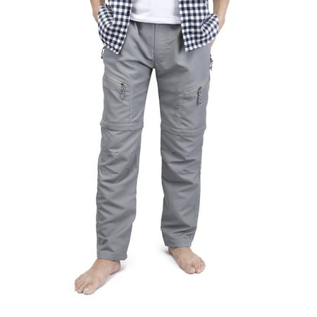 LELINTA Mens Casual Trousers Waterproof Outdoor Sports Combat Pants Cargo Work Short Pants Grey