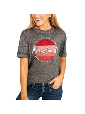 Maryland Terrapins Women's Faded & Free Boyfriend T-Shirt - Charcoal
