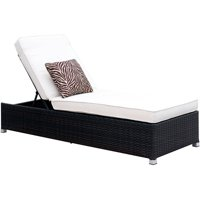 Furniture of America Dino II Contemporary Patio Chaise, White