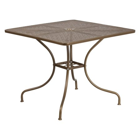 Flash Furniture 35.5'' Square Indoor-Outdoor Steel Patio Table, Multiple Colors ()