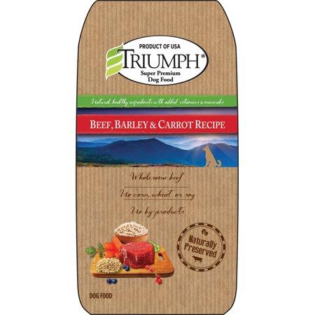 Triumph Pet Industries-Natural Dog Food- Beef/barl/crrt 3.5