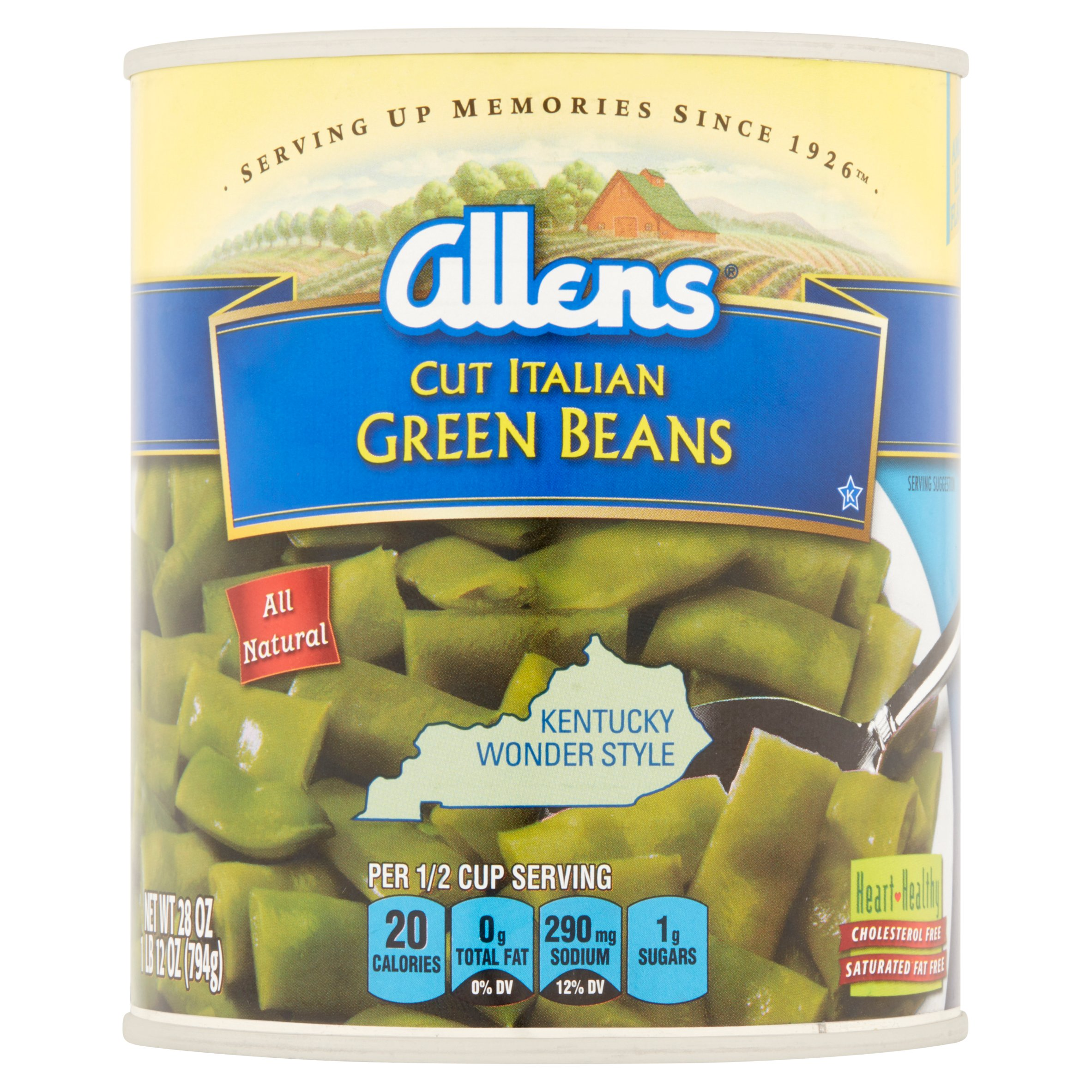 Allens Cut Italian Green Beans, 28 Oz