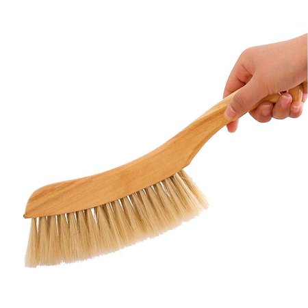 HaloVa Counter Duster, Soft Bristles Debris Dust Hair Cleaning Brush with Wood Handle for Bed Sheets Clothes Sofa - Bristle Counter