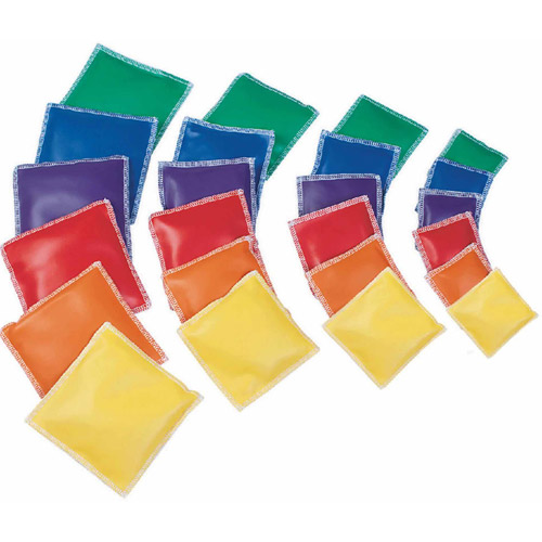 Spectrum Vinyl Square Beanbags, Set of 12, 4""