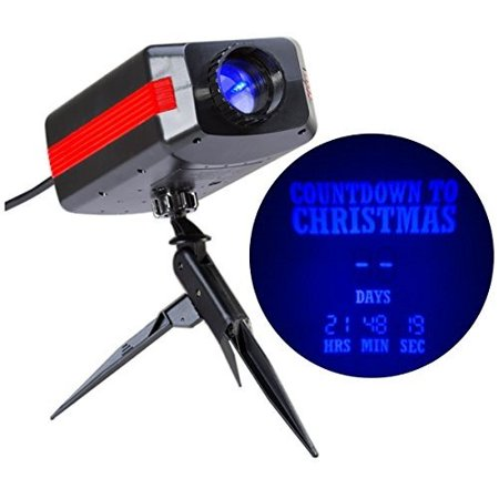 Gemmy LED Lightshow 99-Days Xmas Holiday Countdown Projection Blue Light with Ground Stake and Tripod (Christmas Day Countdown)