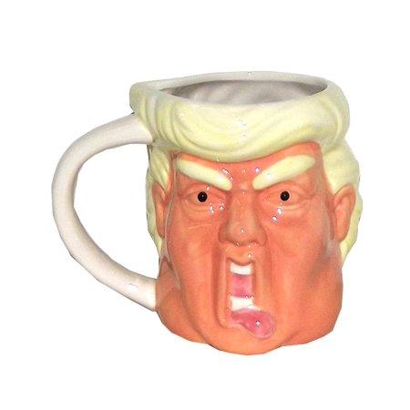 Simple & Co Funny Face Donald Trump Coffee Mug, 18 ounces](Face Mug)