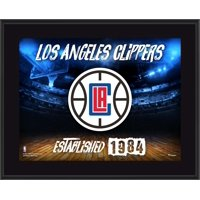 "LA Clippers 10.5"" x 13"" Sublimated Horizontal Team Logo Plaque"