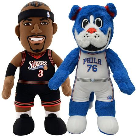 e06aaa07e33 Bleacher Creatures NBA Philadelphia 76ers Dyanmic Duo-Franklin Mascot Allen  Iverson 10