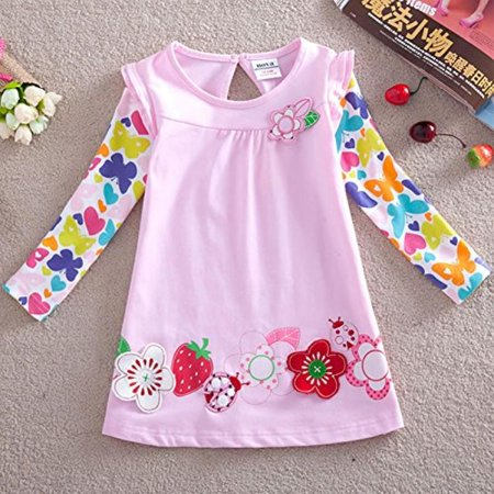 Nova Floral 100  Cotton Layered Baby Girl Clothes F2275 Pink