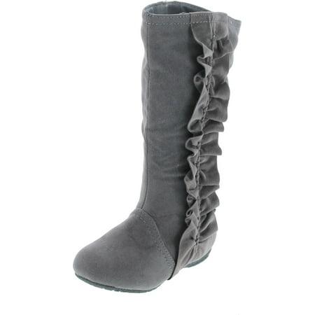 Kali Footwear Girls Event Jr Faux Suede Ruffle Boots