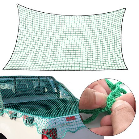 Durable Car Cargo Net Storage Luggage Mesh Truck Trailer Netting Cover 4 Sizes Color: GreenBlack ()