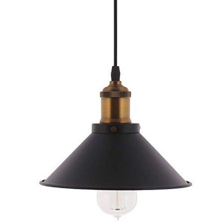 Barnyard Designs Pendant Light Modern Chic Industrial Hanging Light Fixture Black 8