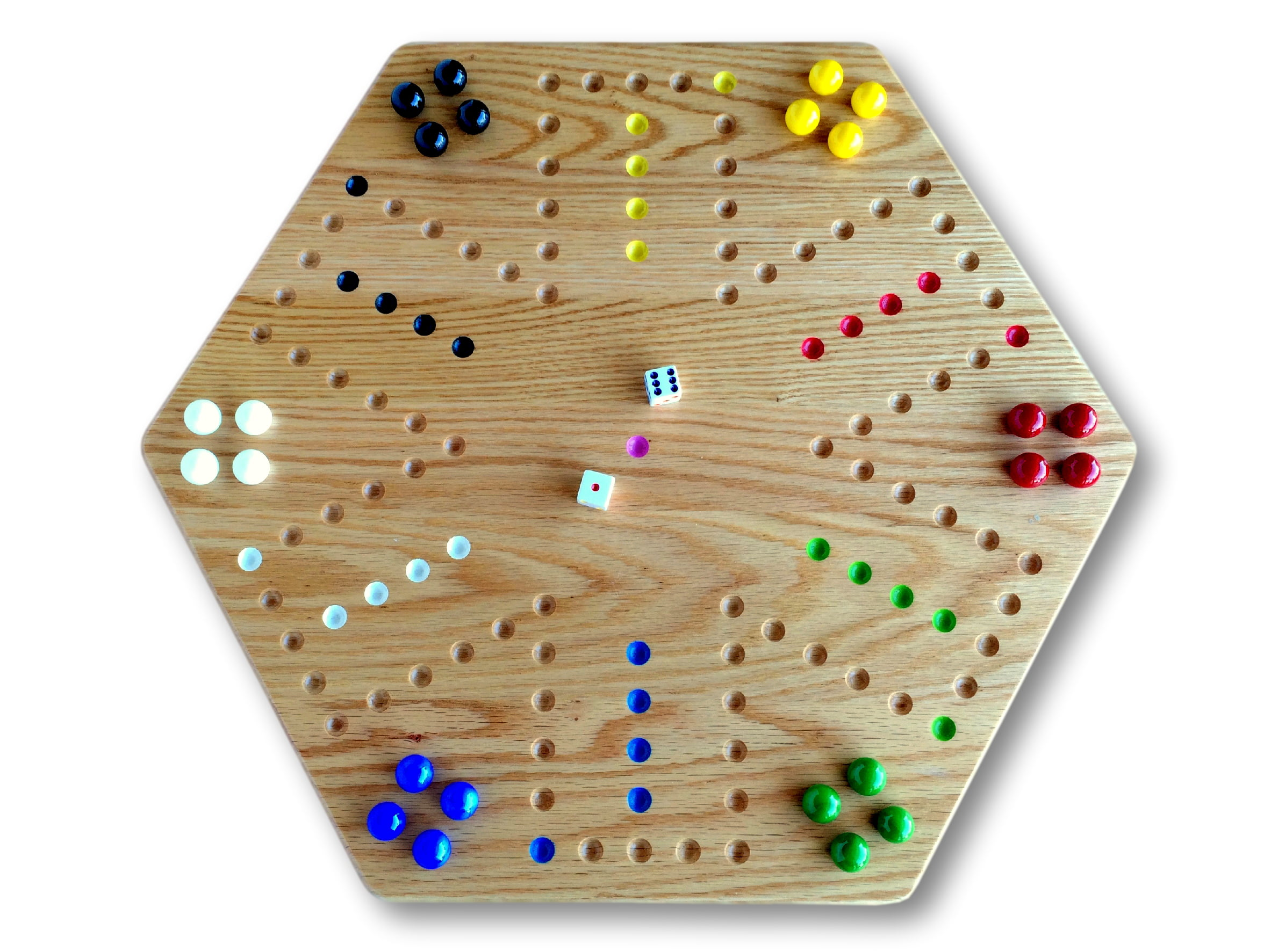 """AmishToyBox.com Oak Hand-Painted 20"""" Wooden Aggravation Game Board, Double-Sided by Wengerd Wood"""