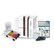 Complete AlphaCard ID Card Printer Bundle: Evolis Primacy ID Printer, AlphaCard ID Suite Software, ID Supplies (PM1H0000RS)