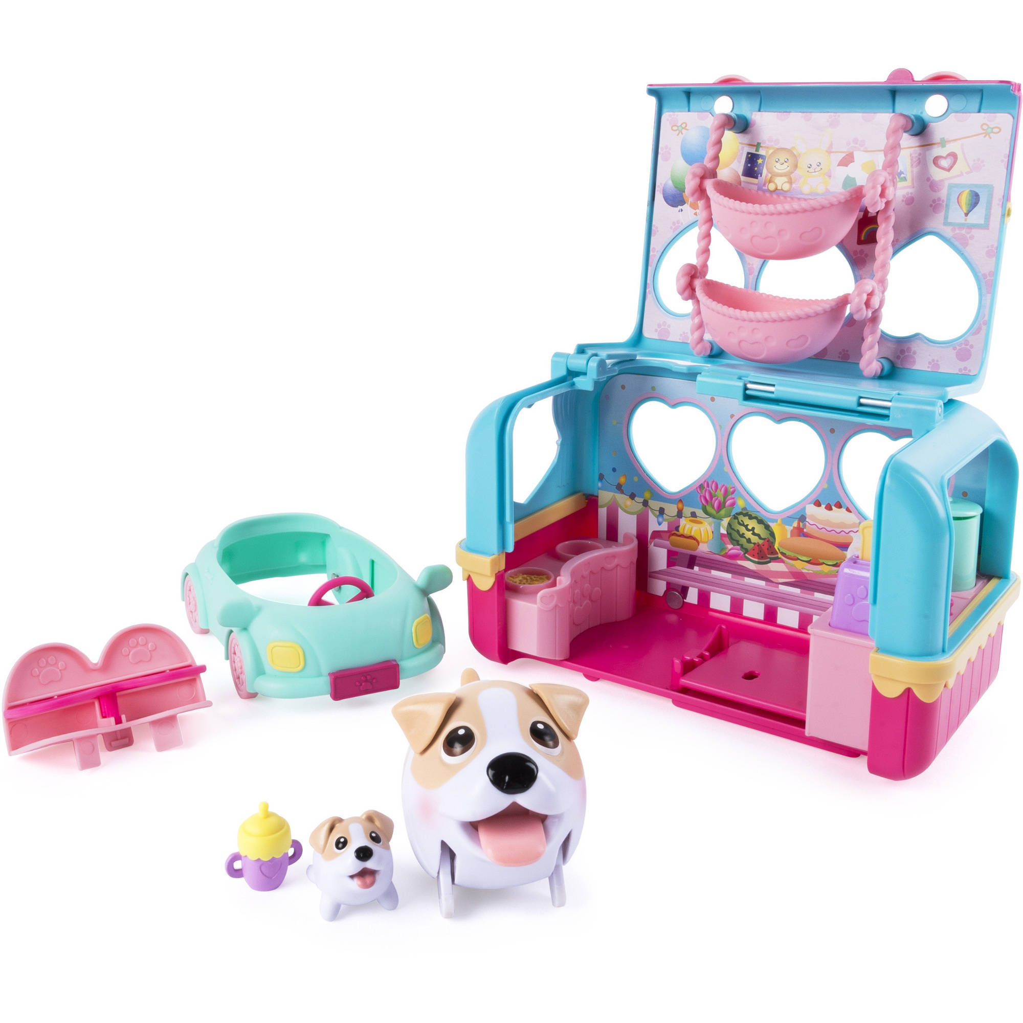 Chubby Puppies & Friends Vacation Camper Playset Jack Russell