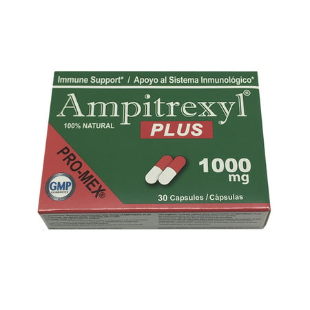 ProMex Ampitrexyl Plus. All-Natural Herb Based Antibiotic and Dietary Supplement. Boosts Immune System and Combats Infections with No Side Effects. 1000 mg, 30