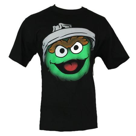f8821cc4 IN MY PARENTS BASEMENT - Sesame Street Mens T-Shirt - Oscar Face Wearing  Trash Can Lid Face Image - Walmart.com