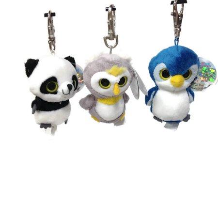 Aurora - YooHoo Clip Ons Set of 3 - Panda, Penguin,Fox](Panda Keychain)