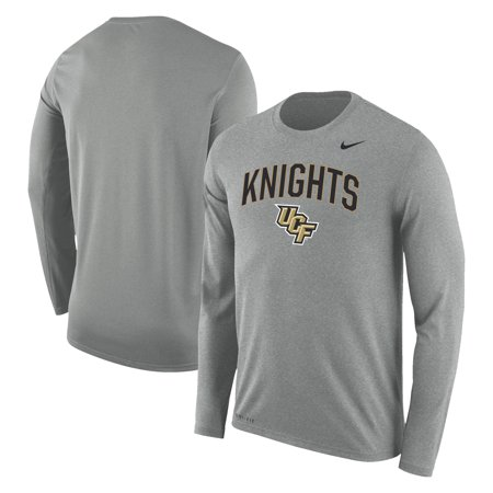 promo code 93ac4 aadc2 UCF Knights Nike Arch Over Logo Long Sleeve T-Shirt - Heathered Gray