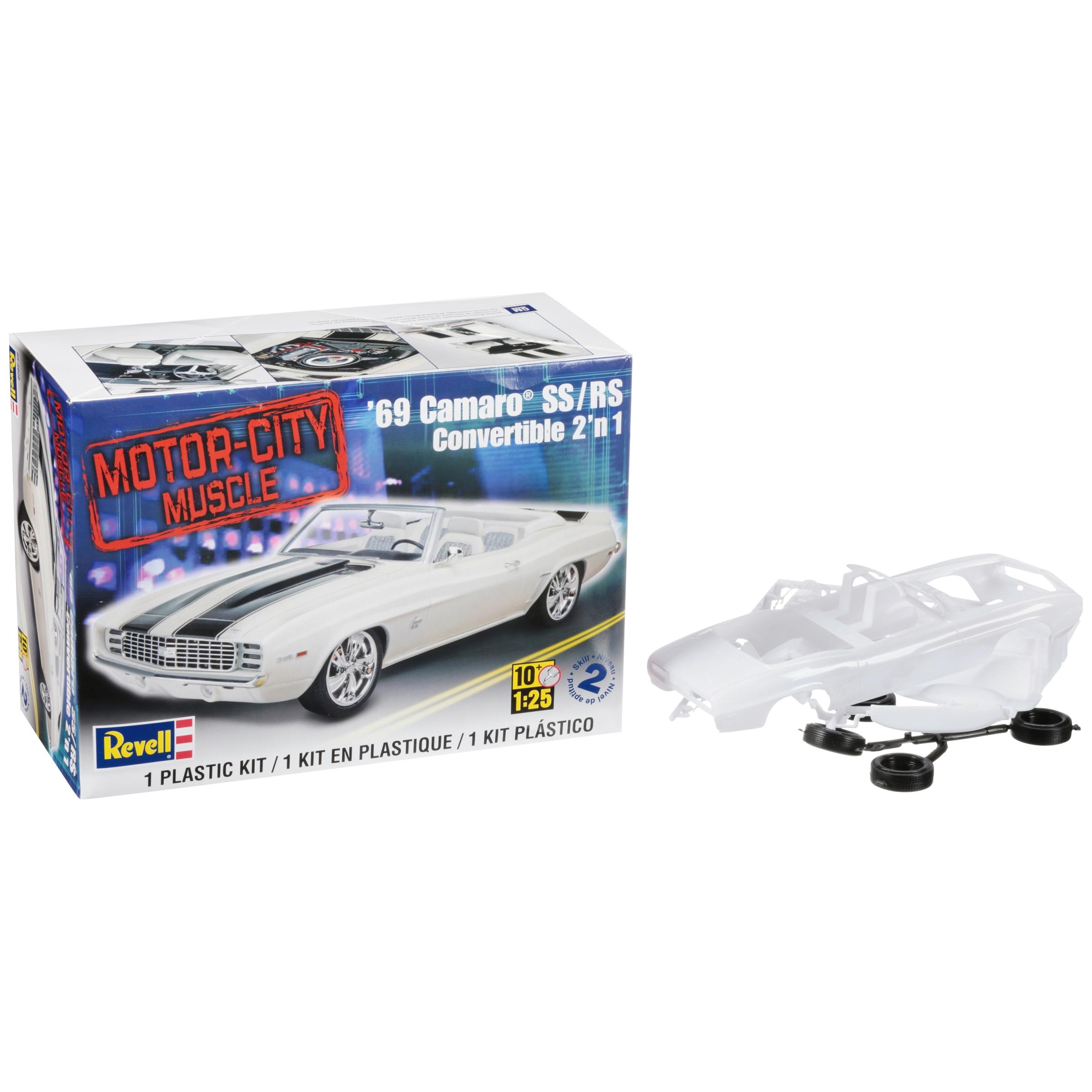 Revell® Motor-City Muscle '69 Camaro® SS/RS Convertible 2'N 1 Plastic Model Car Kit 114 pc Box