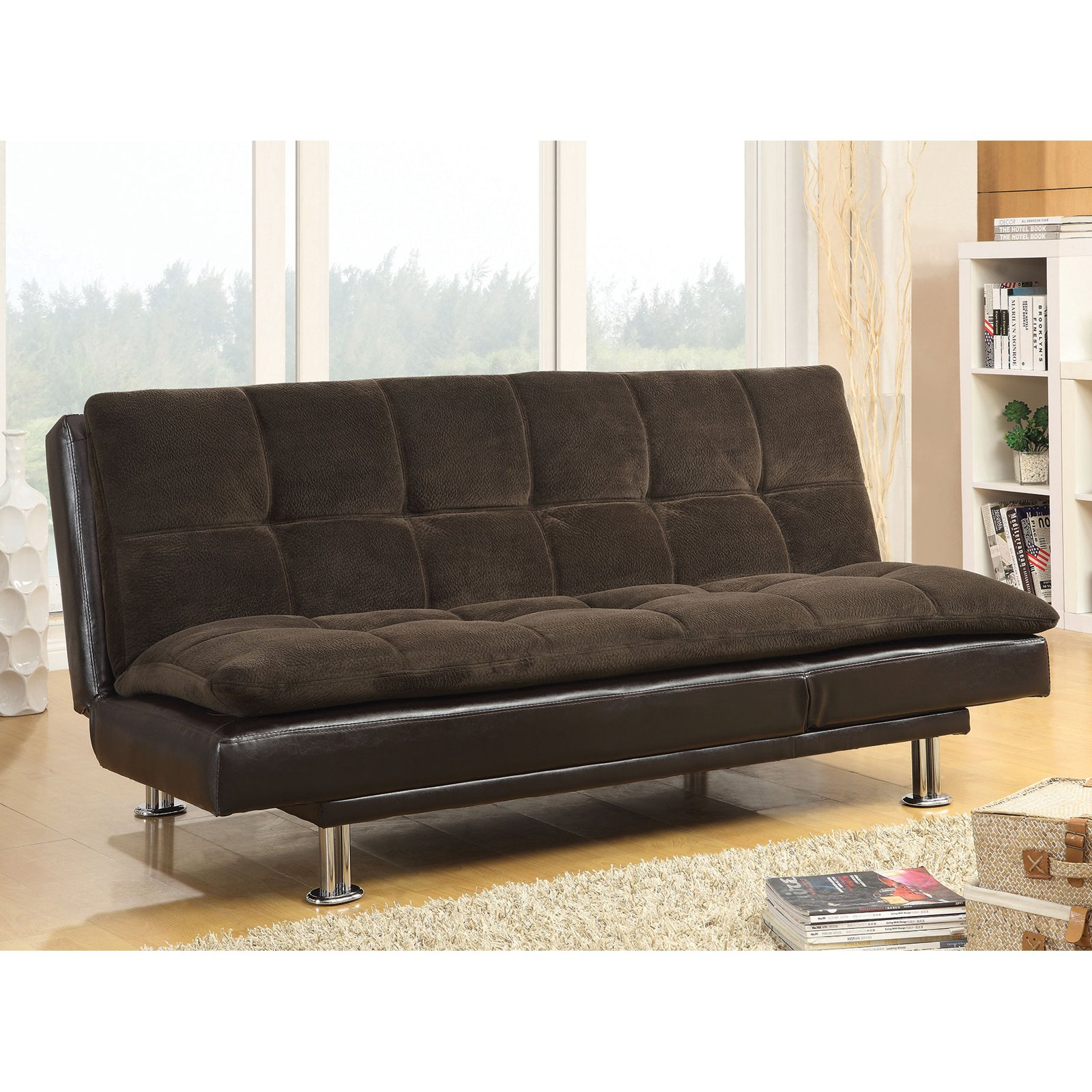 Millie Casual-Style Sofa Bed, Brown