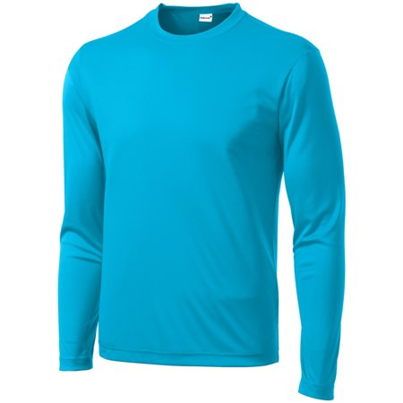 Mafoose Men's Long Sleeve PosiCharge Competitor Tee Shirt Atomic Blue (Xs Spa)