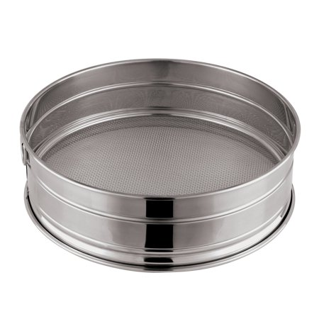 Paderno World Cuisine 11-7/8-Inch Stainless-Steel Coarse Mesh Flour Sieve, 10 Perforations 11.88in