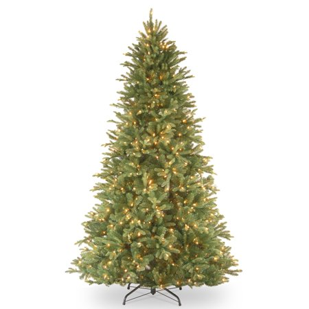 National Tree 7.5'Feel-Real Tiffany Fir Hinged Tree with 750 Dual-Color LED Lights and PowerConnect System
