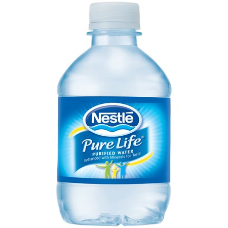 Nestle Pure Life Purified Water, 8 Fl Oz, 24 Count