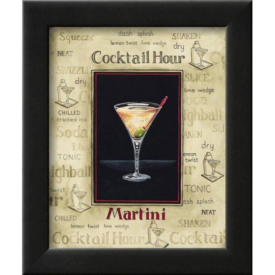 martini framed print wall art by gregory gorham walmart com