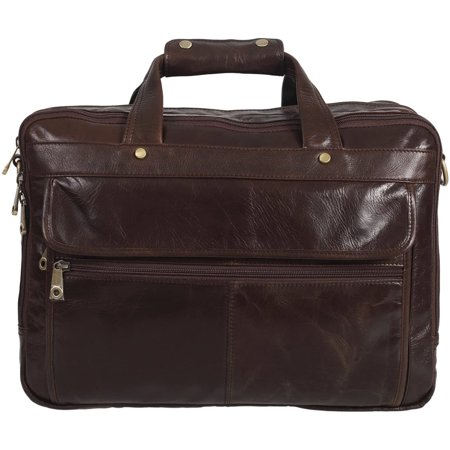 Texbo Men's Geniune Leather Briefcase Messenger Shoulder Laptop Bag 15 Inch - image 3 of 5