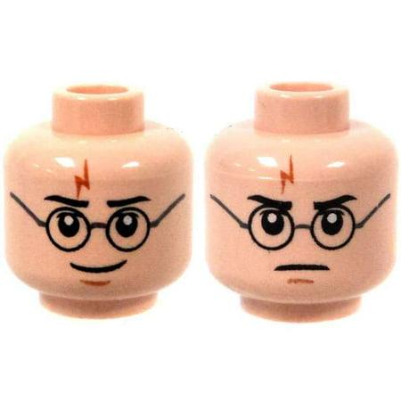 Light Flesh Harry Potter Lightning Mark & Glasses Head Dual-Sided Print
